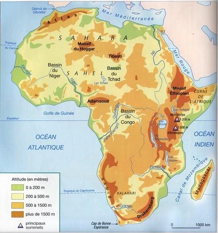 Carte Hydrographique De Lafrique Du Sud.Geopolitique De L Afrique Geopolitika Par Jean Pierre Arrignon