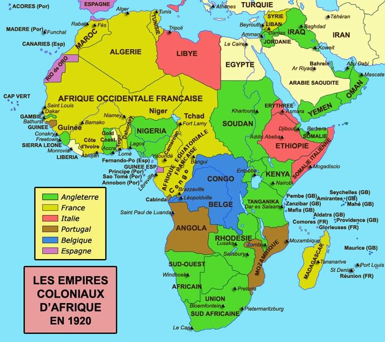 Image result for carte des anciennes colonies françaises
